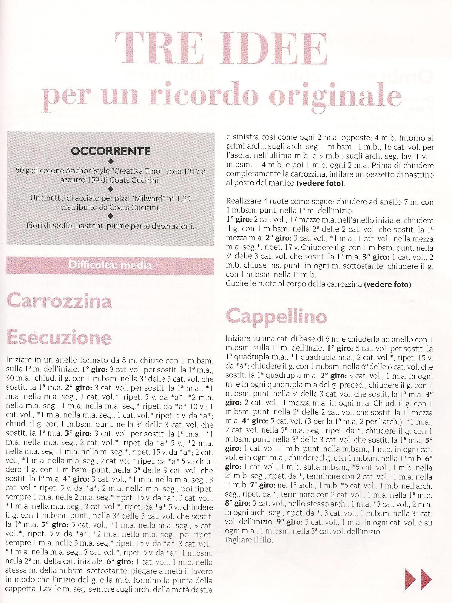 Schema Bomboniere Ombrellino Culla E Cappellino Alluncinetto